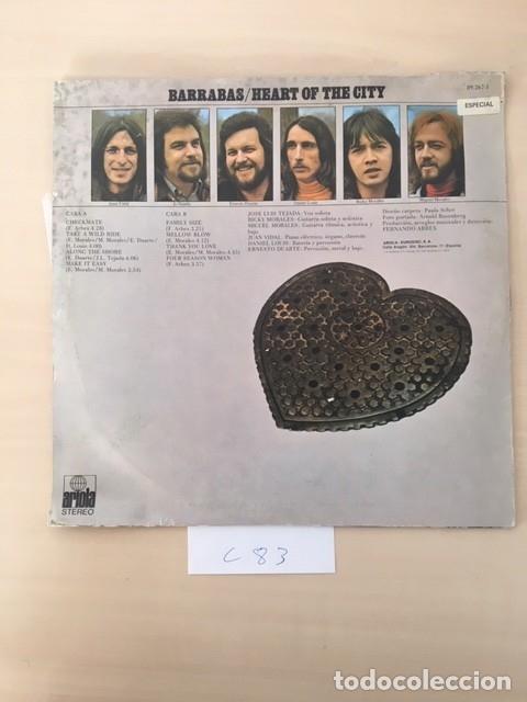 Discos de vinilo: BARRABAS HEART OF THE CITY - Foto 2 - 177959822