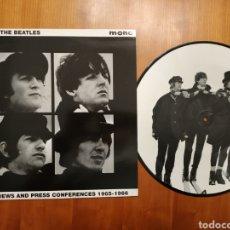 Discos de vinilo: BEATLES LP PICTURE DISC INTERVIEWS AND PRESS CONFERENCES 1965-1966. Lote 177960949
