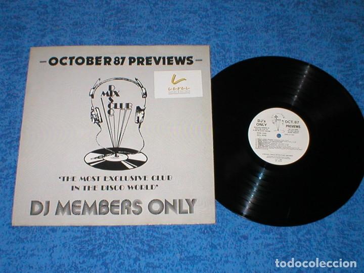 DJ MEMBERS ONLY LP OCTOBER 87 PREVIEWS SAMANTHA FOX JANET JACKSON SANDRA BIG PIG INTRIGUE CHRIS PAUL (Música - Discos - LP Vinilo - Disco y Dance)