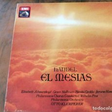 Discos de vinilo: CAJA 3 LP LA VOZ DE SU AMO EMI - HANDEL EL MESIAS - . Lote 177983088