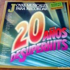 Discos de vinilo: CAJA 3 LP - LEVANTE 1983 - JOYAS MUSICALES PARA RECORDAR - 20 AÑOS DE SUPERHITS. Lote 177983402