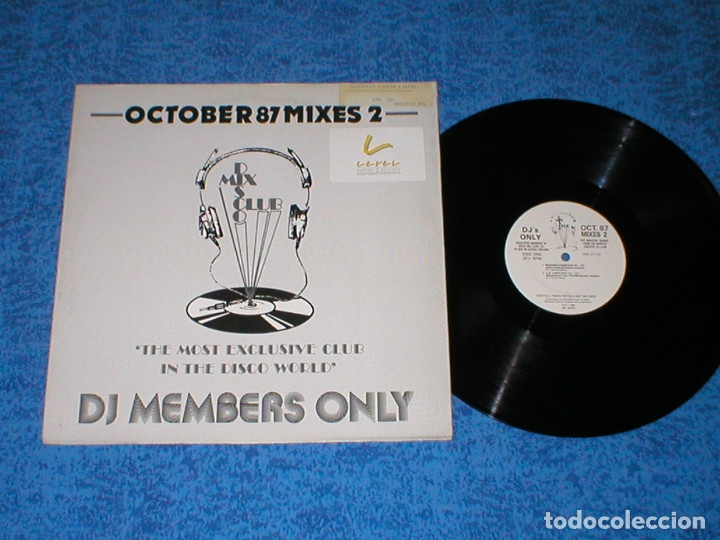 DJ MEMBERS ONLY LP OCTOBER 87 THE MIXES 2 MICHAEL JACKSON MADONNA CHIC WHAM TAVARES RICK ASTLEY ICET (Música - Discos - LP Vinilo - Disco y Dance)