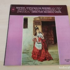 Discos de vinilo: DISCO VINILO LP ZARZULEAS BANDA SINFONICA DE MADRID. Lote 177984165