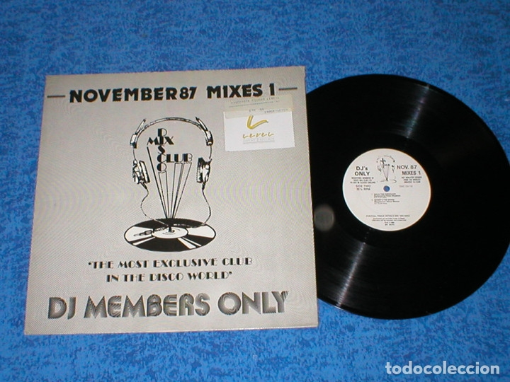 DJ MEMBERS ONLY LP NOVEMBER 87 THE MIXES 1 BANANARAMA WAS NOT WAS THE WHISPERS CHIC PUBLIC ENEMY (Música - Discos - LP Vinilo - Disco y Dance)