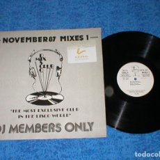Discos de vinilo: DJ MEMBERS ONLY LP NOVEMBER 87 THE MIXES 1 BANANARAMA WAS NOT WAS THE WHISPERS CHIC PUBLIC ENEMY. Lote 177986734