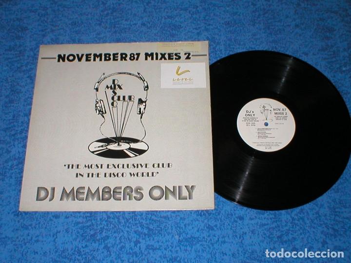 DJ MEMBERS ONLY LP NOVEMBER 87 THE MIXES 2 MICHAEL JACKSON YELLOW EURYTHMICS SAMANTHA FOX JEFF WAYNE (Música - Discos - LP Vinilo - Disco y Dance)