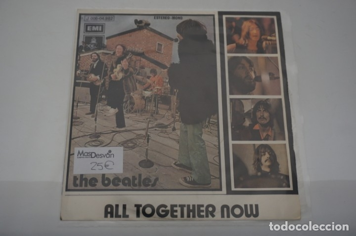 SINGLE - THE BEATLES / ALL TOGETHER NOW / EMI ODEON J 006-04.982 (Música - Discos - Singles Vinilo - Otros estilos)