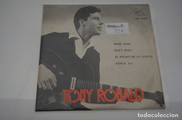 SINGLE - TONY ROLAND / RUBY BABY, ROLY POLY, EL RITMO DE LA LLUVIA, VENGA YA / 7EPL 13.937 (Música - Discos - Singles Vinilo - Otros estilos)