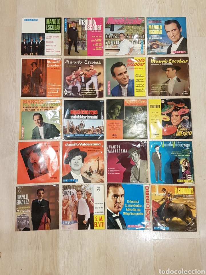 Discos de vinilo: LOTE 90 VINILOS EP + 4 ALBUMS. GRANDES ARTISTAS AÑOS 60 E INFANTILES - Foto 6 - 178006172