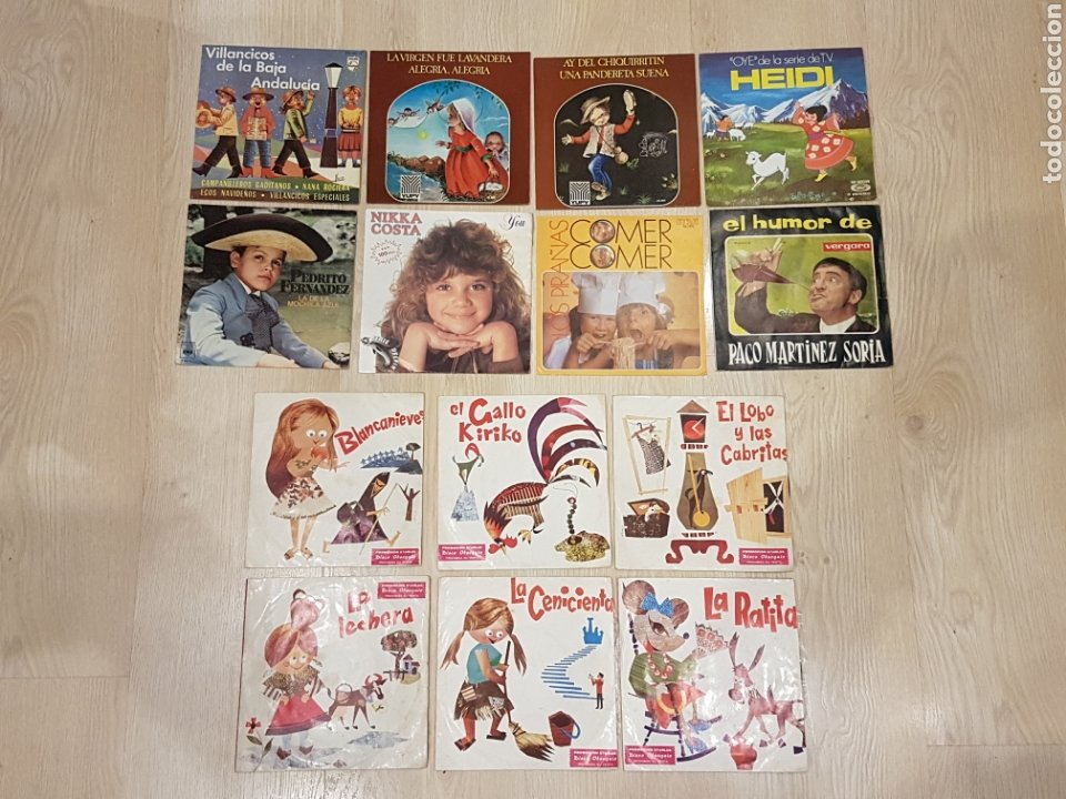 Discos de vinilo: LOTE 90 VINILOS EP + 4 ALBUMS. GRANDES ARTISTAS AÑOS 60 E INFANTILES - Foto 8 - 178006172