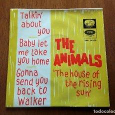 Discos de vinilo: THE ANIMALS EP THE HOUSE OF THE RISING SUN + 3 (LA VOZ DE SU AMO 7EPL 14.100 - ESPAÑA 1964). Lote 178007217