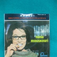 Discos de vinilo: NANA MOUSKOURI. AU FEU ! EP. FONTANA MEDIUM 460.891. FRANCE.. Lote 178013434
