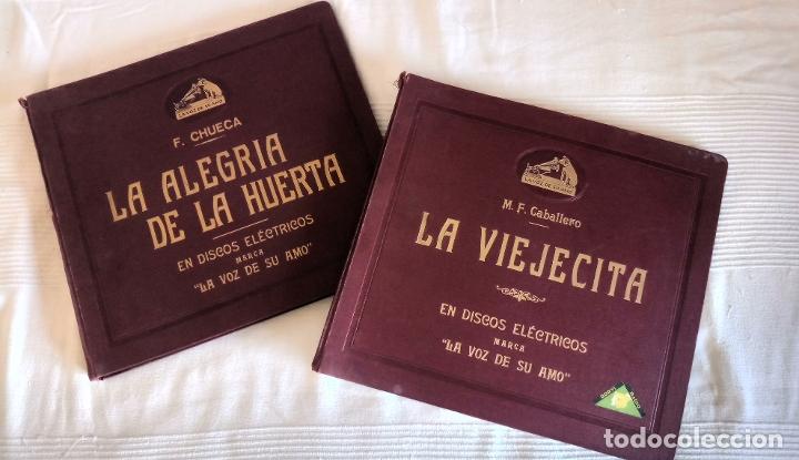 DISCO PIZARRA LOTE LA ALEGRIA DE LA HUERTA F.CHUECA Y LA VIEJECITA M.F CABALLERO (Música - Discos - Singles Vinilo - Clásica, Ópera, Zarzuela y Marchas)