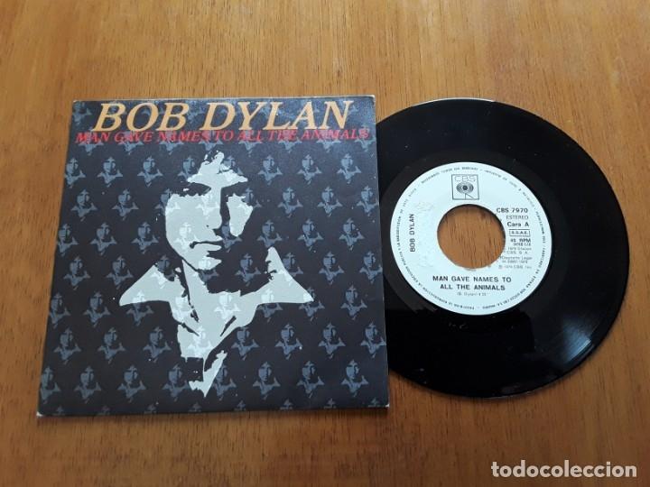 BOB DYLAN - MAN GAVE NAMES TO ALL THE ANIMALS (CBS 7970 - ESPAÑA 1979) PROMO SINGLE (Música - Discos - Singles Vinilo - Country y Folk)