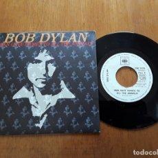 Discos de vinilo: BOB DYLAN - MAN GAVE NAMES TO ALL THE ANIMALS (CBS 7970 - ESPAÑA 1979) PROMO SINGLE. Lote 178025907