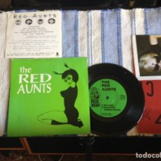 Discos de vinilo: THE RED AUNTS - RED AUNTS EP 7' TRACKS + POSTER PROMO + PEGATINA. NM. Lote 178030302