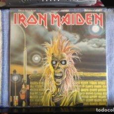 Discos de vinilo: IRON MAIDEN - IRON MAIDEN / ALBUM LP REISSUE SERIE FAME 1980. NM - NM. Lote 178032990