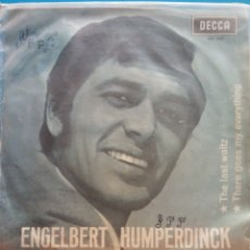 Discos de vinilo: ENGELBERT HUMPERDINCK. THE LAST WALTZ. THERE GOES MY EVERYTHING. DECCA. Lote 178034334