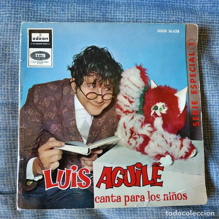 LUIS AGUILE (CANTA PARA LOS NIÑOS) CANCIONES DE MARIA ELENA WALSH, EP CARPETA ABIERTA ODEON 1964 (Música - Discos de Vinilo - EPs - Música Infantil)