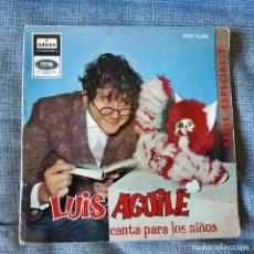 Discos de vinilo: LUIS AGUILE (CANTA PARA LOS NIÑOS) CANCIONES DE MARIA ELENA WALSH, EP CARPETA ABIERTA ODEON 1964. Lote 178036642