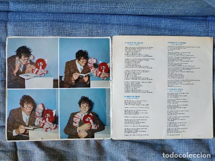 Discos de vinilo: LUIS AGUILE (CANTA PARA LOS NIÑOS) CANCIONES DE MARIA ELENA WALSH, EP CARPETA ABIERTA ODEON 1964 - Foto 3 - 178036642