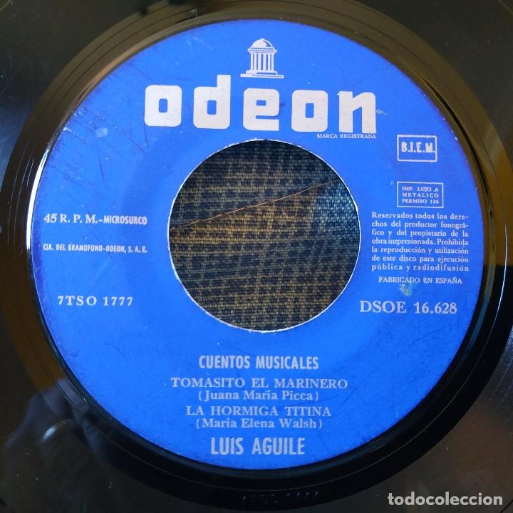 Discos de vinilo: LUIS AGUILE (CANTA PARA LOS NIÑOS) CANCIONES DE MARIA ELENA WALSH, EP CARPETA ABIERTA ODEON 1964 - Foto 5 - 178036642