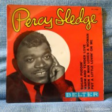Discos de vinilo: PERCY SLEDGE - WHEN A MAN LOVES A WOMAN + 3 - EP ESPAÑOL SELLO BELTER DEL AÑO 1966 . Lote 178037252