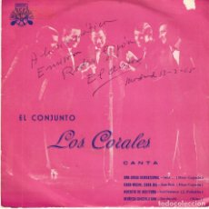 Discos de vinilo: CONJUNTO LOS CORALES - UNA CHICA SENSACIONAL - MUÑECA CHOCOLATINA - EP 1964 VG++ / EX. Lote 178039148