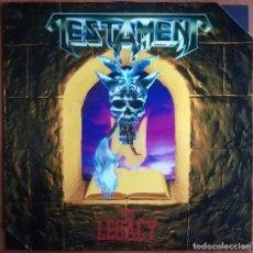 Discos de vinilo: TESTAMENT - THE LEGACY LP 1987 1ª EDICION EUROPEA CON DOS ESQUINAS CORTADAS POR PROMOCION. Lote 178043222