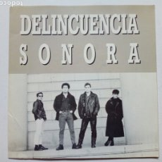 Discos de vinilo: EP: DELINCUENCIA SONORA - LA LEY + DESDE EL FONDO... + VAGABUNDO (BASATI DISKAK, 1988) PUNK ROCK. Lote 178043287
