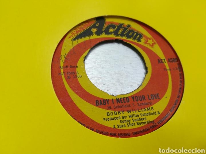 BOBBY WILLIAMS SINGLE BABY I NEED YOUR LOVE U.K. 1968 ESCUCHADO (Música - Discos - Singles Vinilo - Funk, Soul y Black Music)