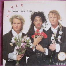 Discos de vinilo: LP - STYLE - QUESTION OF TIME (SPAIN, CBS 1988). Lote 178047068