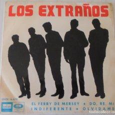 Discos de vinilo: LOS EXTRAÑOS - EL FERRY DE MERSEY + 3 TEMAS ODEON - 1965. Lote 178048975