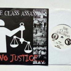 Discos de vinilo: SINGLE: THE CLASS ASSASSINS - NO JUSTICE NO PEACE + ONE TIN SOLDIER (INSURGENCE REC., 2001) PUNK. Lote 178051863