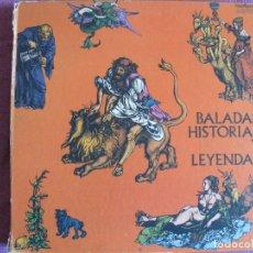 Discos de vinilo: LP - BALADAS HISTORIAS Y LEYENDAS - VARIOS (BOX SET CON 3 LP'S, SPAIN, GUIMBARDA 1983). Lote 178053843