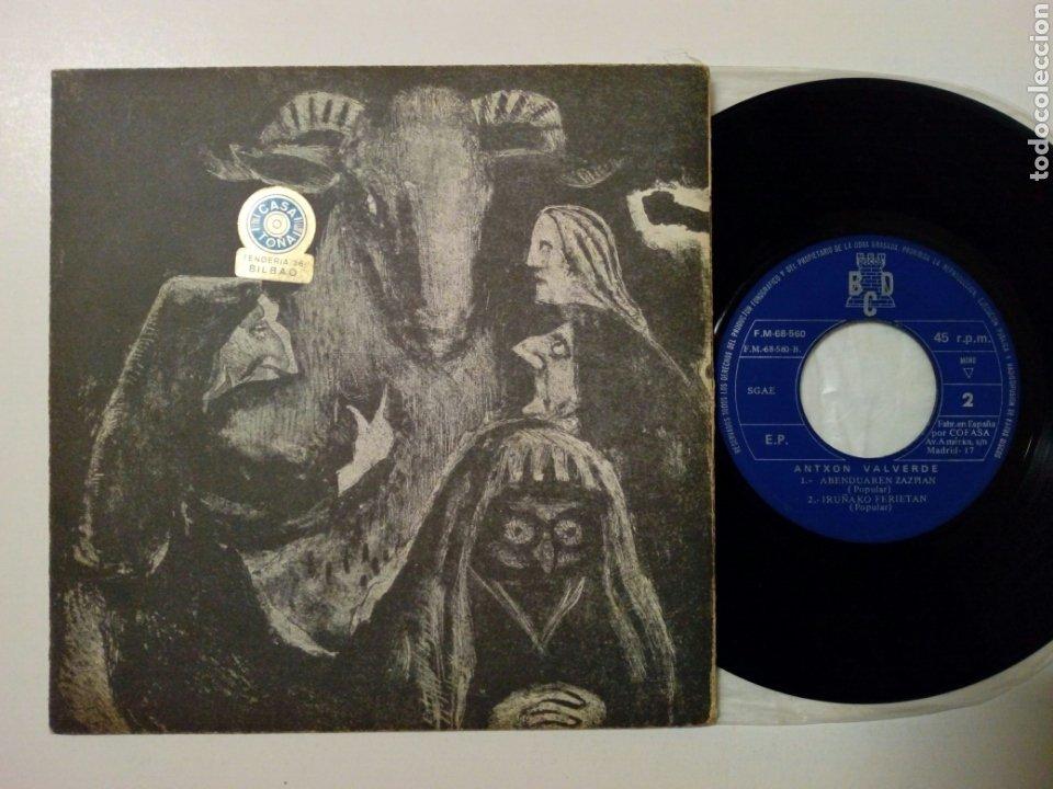 Discos de vinilo: (Leer Descripción) ANTXON VALVERDE - Hura + Garia Saltzen + 2 (Discos BCD, 1971) - Con defecto - - Foto 2 - 178062430