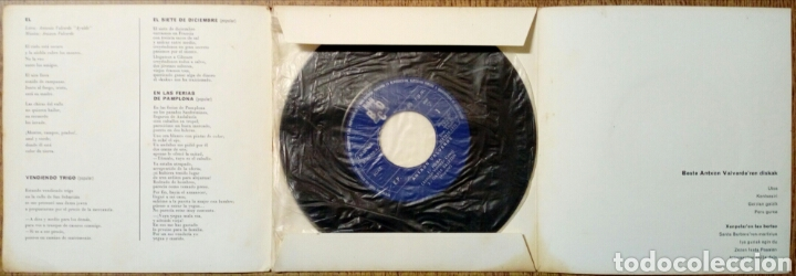 Discos de vinilo: (Leer Descripción) ANTXON VALVERDE - Hura + Garia Saltzen + 2 (Discos BCD, 1971) - Con defecto - - Foto 3 - 178062430