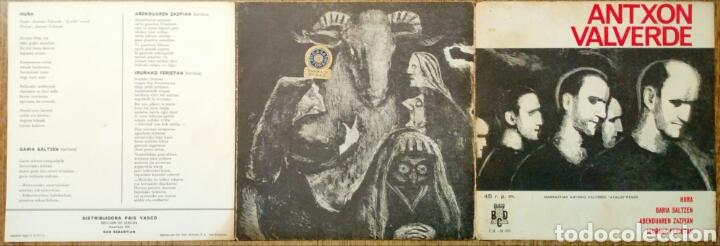 Discos de vinilo: (Leer Descripción) ANTXON VALVERDE - Hura + Garia Saltzen + 2 (Discos BCD, 1971) - Con defecto - - Foto 4 - 178062430