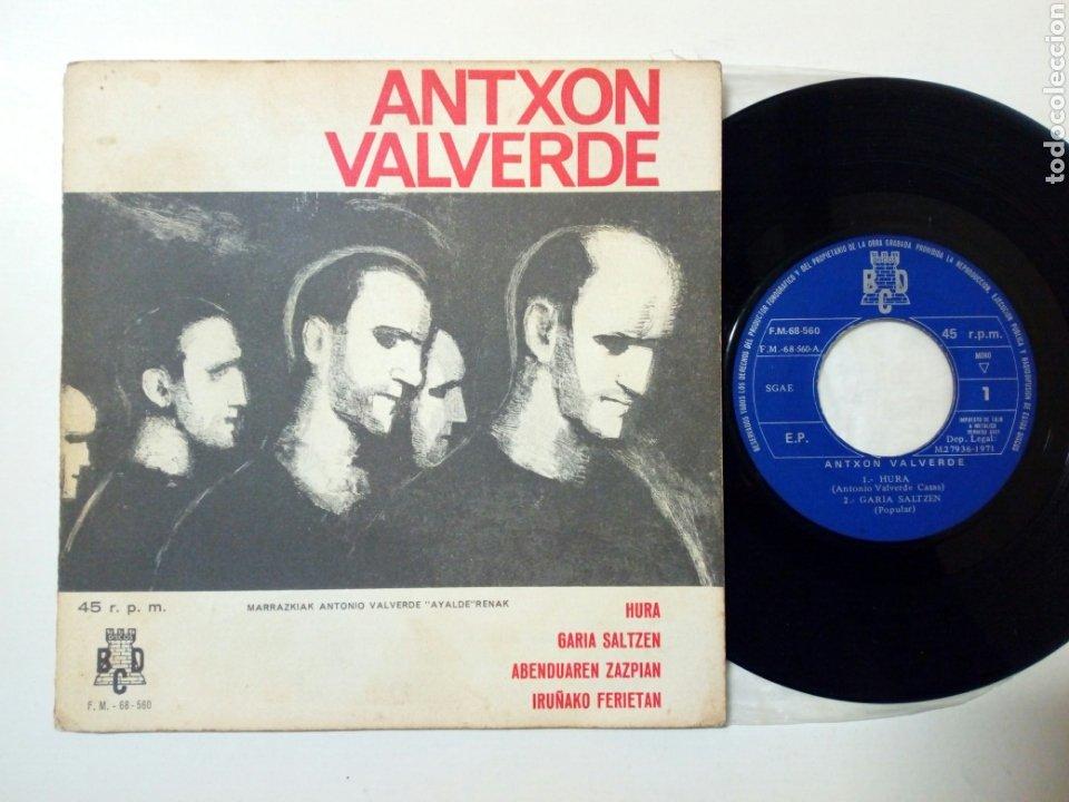 (LEER DESCRIPCIÓN) ANTXON VALVERDE - HURA + GARIA SALTZEN + 2 (DISCOS BCD, 1971) - CON DEFECTO - (Música - Discos de Vinilo - EPs - Country y Folk)
