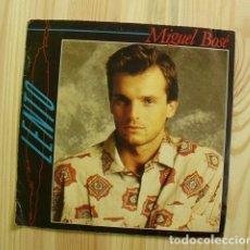 Discos de vinilo: DISCO VINILO MIGUEL BOSÉ - LENTO - SOUTH OF THE SAHARA - CBS ESTÉREO 1984. Lote 178077390