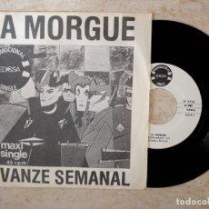 Discos de vinilo: LA MORGUE.AVANZE SEMANAL.PROMOCIONAL EDIGSA 1982.. Lote 178093909