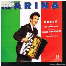 Discos de vinilo: ROCCO AND THE CARNATIONS - MARINA - SINGLE 1989 - PROMO. Lote 178095384