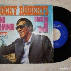 Discos de vinilo: ROCKY ROBERTS.SONO TREMENDO.STASERA MI BUTTO.1968. Lote 178097280