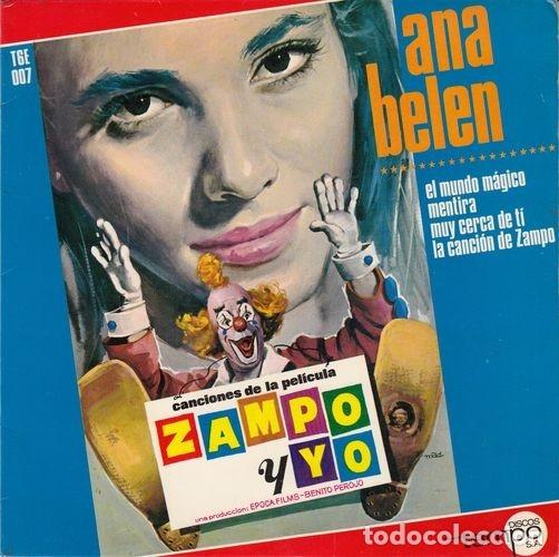 ANA BELEN - EL MUNDO MAGICO - EP DE VINILO (Música - Discos de Vinilo - EPs - Solistas Españoles de los 50 y 60)