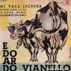 Discos de vinilo: EDOARDO VIANELLO - MI VACA LECHERA - EP DE VINILO EDICION ESPAÑOLA CANTADA EN ESPAÑOL. Lote 178100423