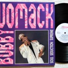 Discos de vinilo: BOBBY WOMACK - '' SOUL SEDUCTION SUPREME '' 2 LP 1991 UK. Lote 178103473