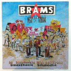 Discos de vinilo: BRAMS & NEGU GORRIAK -LA DIPLOMÀCIA DE LA REBEL-LIA -MINI LP 45 RPM- (INCLUYE LIBRETO). Lote 178106655