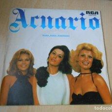 Disques de vinyle: ACUARIO, SG, REMA, REMA, MARINERO + 1, AÑO 1976 PROMO. Lote 178123508