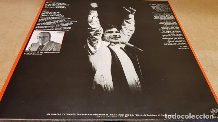 Discos de vinilo: PEDRO RUIZ LOS DESNUDA / LOS POLÍTICOS...ESOS CÓMICOS ! LP - EPIC-1984 / MBC. ***/*** - Foto 2 - 178124934
