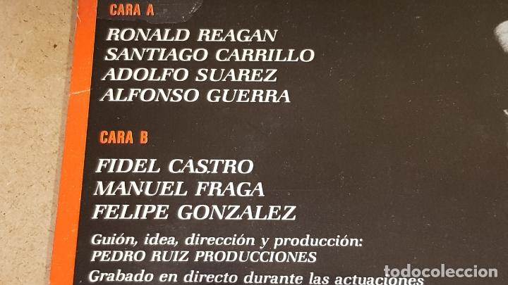 Discos de vinilo: PEDRO RUIZ LOS DESNUDA / LOS POLÍTICOS...ESOS CÓMICOS ! LP - EPIC-1984 / MBC. ***/*** - Foto 3 - 178124934